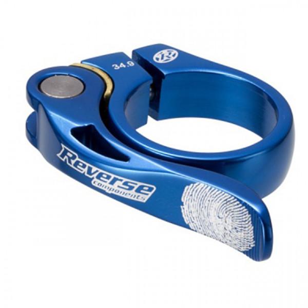 Long Life Sattelklemme 34,9mm - blue