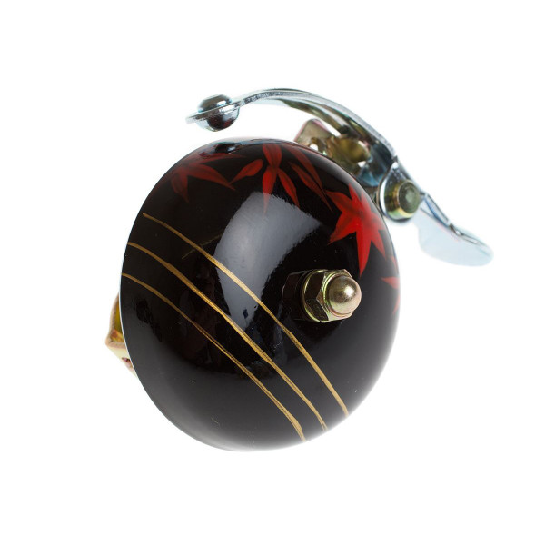 Hand Painted Bell - Black - Maple Design