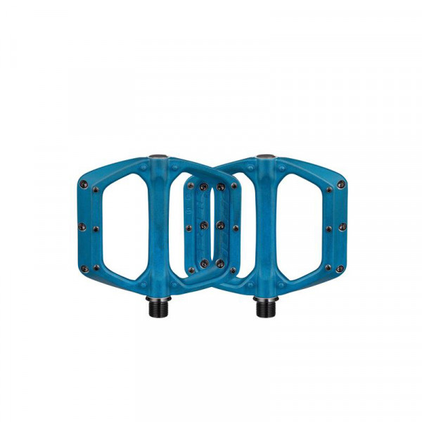 Spoon DC Flat Pedals - Blue