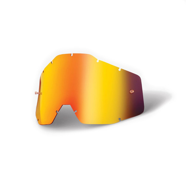 Youth Mirror Replacement Anti Fog Lenses - red