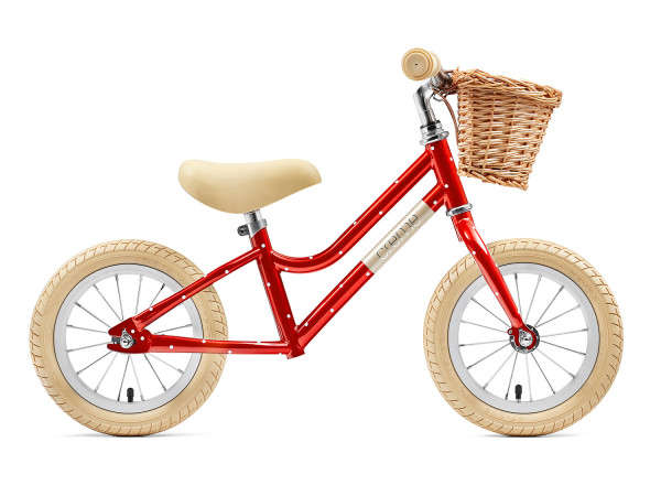 "Mia 12"" Red Polka - Push Bike"