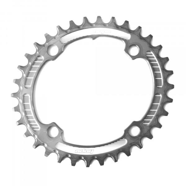 Oval Retainer Kettenblatt - silber