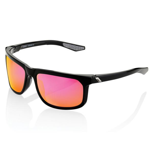 Hakan glasses mirrored - Black