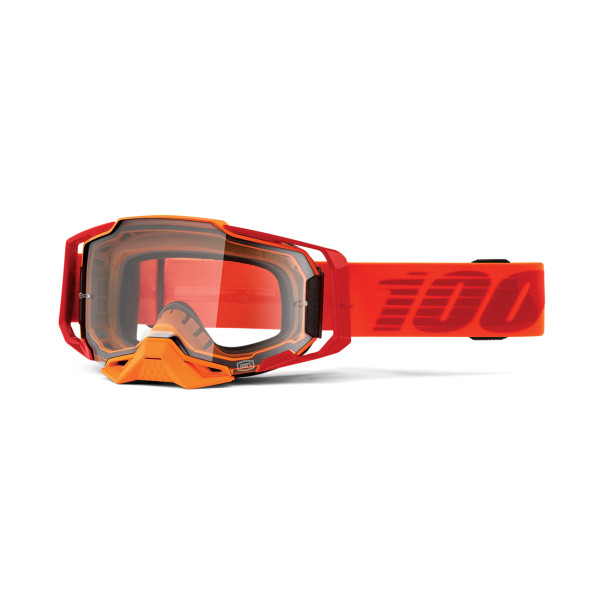 Armega Goggle Anti Fog - Orange / Red - Clear
