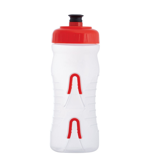 Cageless bottle - 600 ml - clear/red