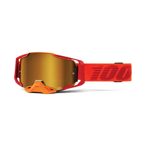 Armega Goggle Anti Fog - Red / Orange - mirrored