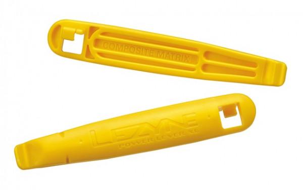 Reifenheber Power Lever XL mit Speichenhaken - gelb