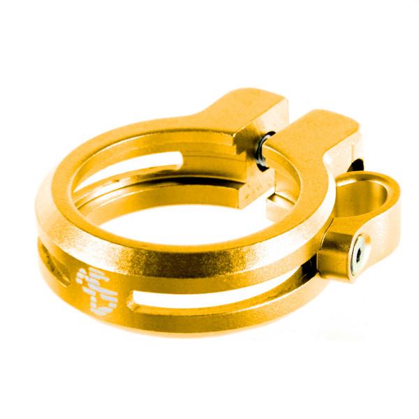 Sattelklemme mit Kabelführung 34,9 - gold