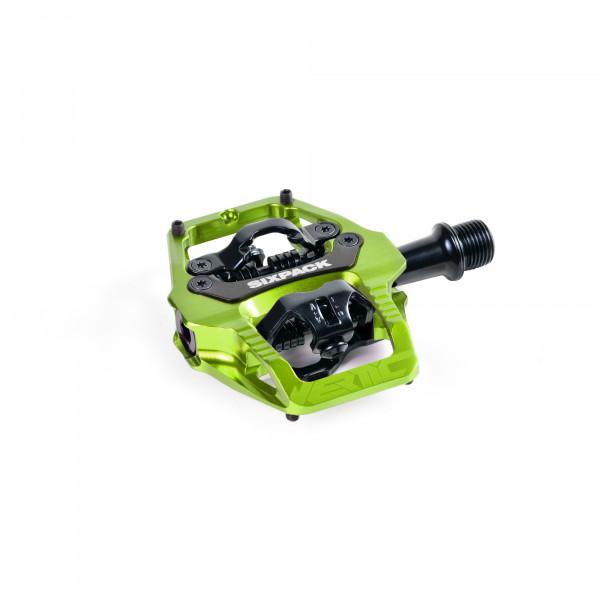 Vertic Trail Klickpedal - Q-Faktor 58,5mm - electric green