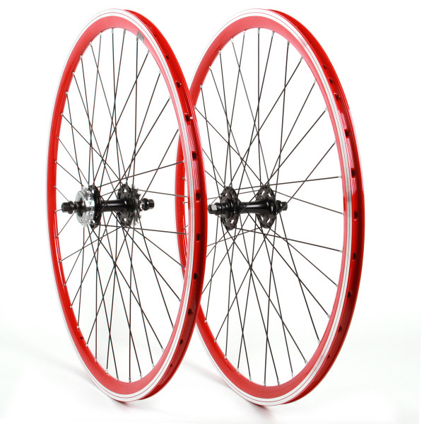 Single Speed Fixie Wheelset 28 Inch - red