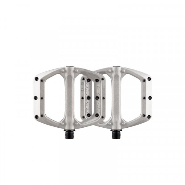 Spoon DC Flat Pedals - Raw/Silver