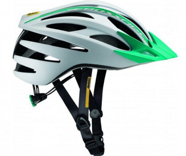 Crossride SL Elite Women MTB Helm - weiss/moorea blau