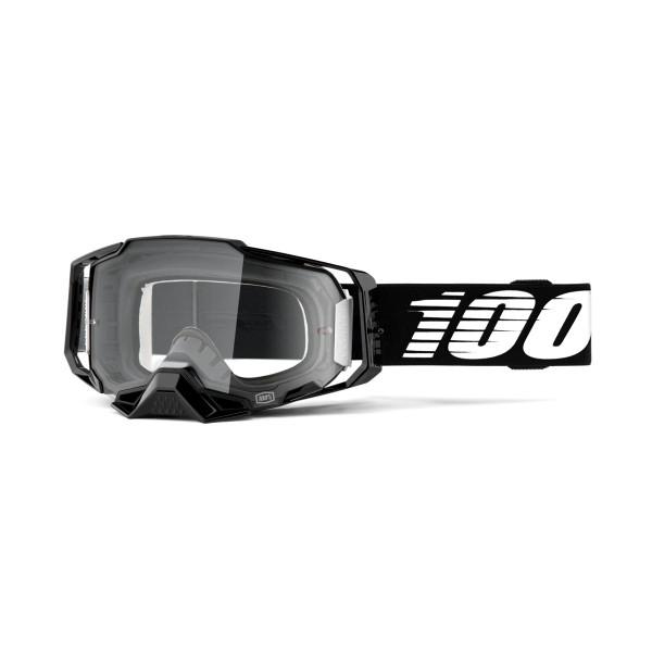 Armega Goggle Anti Fog - Black / White - Clear