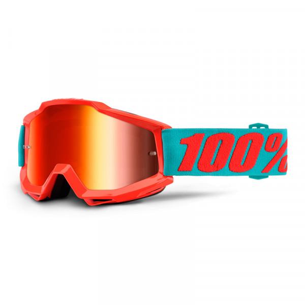 Accuri Goggle Anti Fog Mirror Lens - Passion Orange