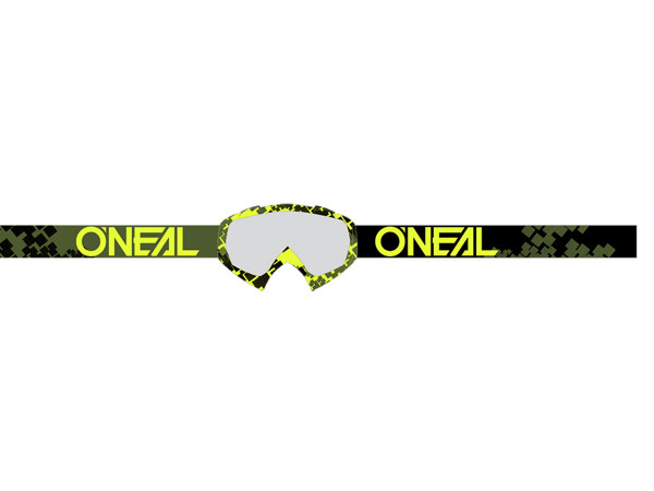 B10 Pixel Goggle - neon yellow/green - Lens clear