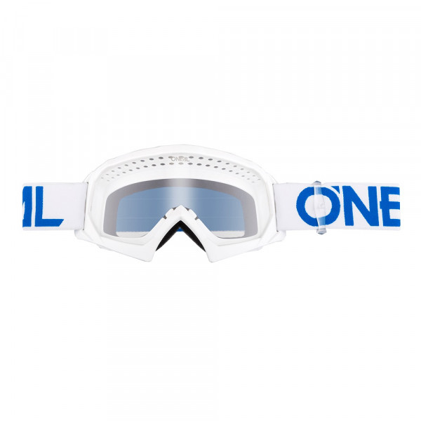 B10 Solid Goggle - Youth - white/blue - Lens clear