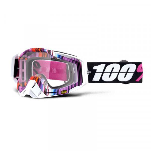 Racecraft Premium MX Goggle - Glitch Clear Lens