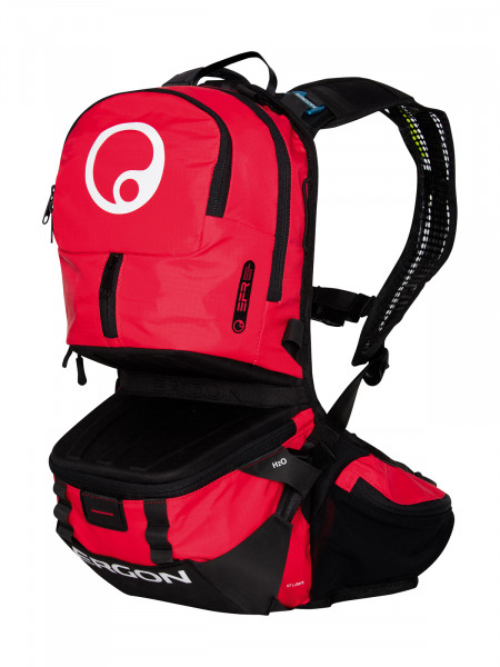 BE3 Enduro Rucksack - black/red